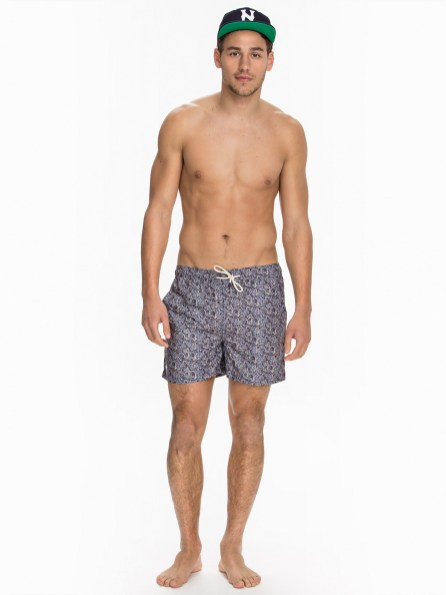 NLY MAN offers men's clothing, shoes, jackets and trousers from leading brands reinvented its S/S 2015 Swimwear collection line with colorful swim shorts, full of beautiful patterns and designs, stars supermodel Mariano Ontañón.
