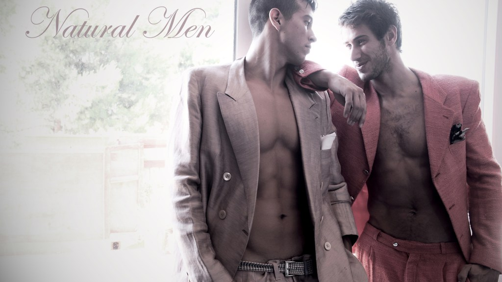 "Spanish beauties in ""Natural Men"" a fresh new work by Pascual Ibañez, guys Cesc Roselló at Traffic Models and Mario Marín at EP Models. Styling and art direction by Francis Montesinos and photo assistant by Cristian Lázaro."