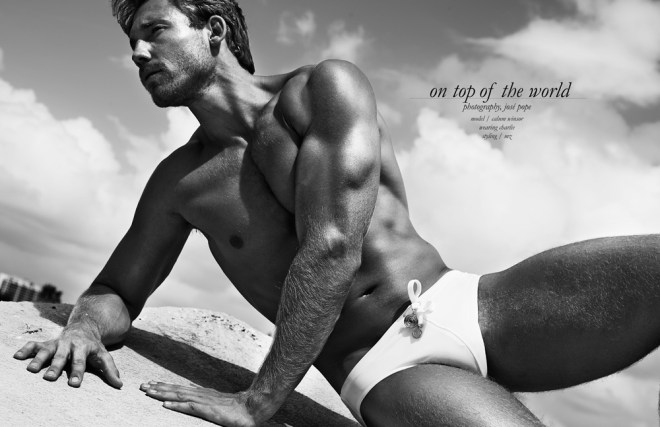 """""""On Top of the World"""" is the recent story in the latest issue of Tokyo Tinsel Magazine with the beautiful Calum Winsor (Front Management Miami) shot by JPhotography. Styled in Charlie by MZ. Yeah we indeed feel he's on top of the world."""