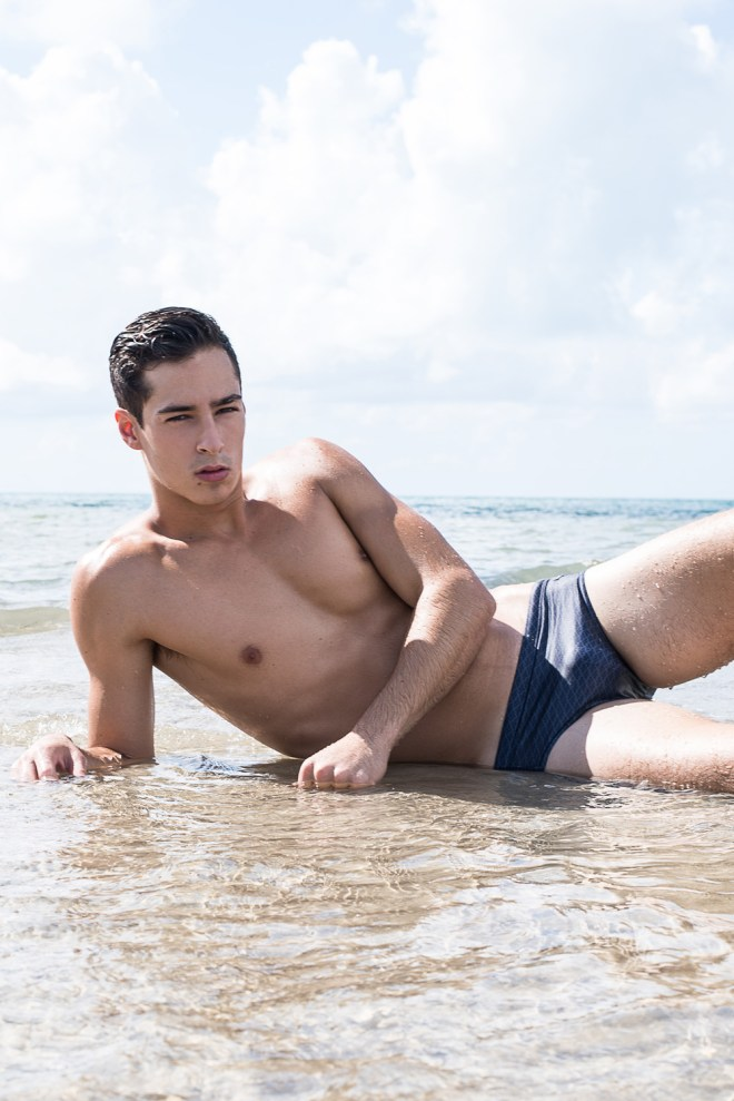 Introducing from Elite Model Miami dashing new face Dylan Lagalante by Fritz Yap at Miami Beach.