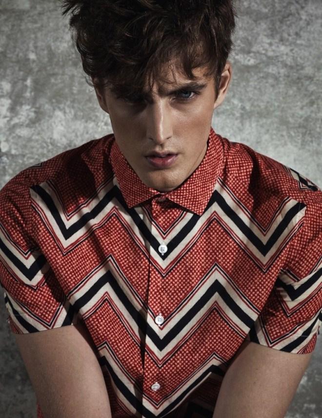 James Smith Poses for Harper's Bazaar Korea Man Spring/Summer 2015 Editorial