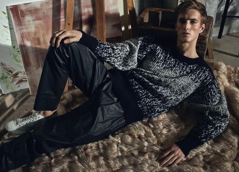 James Smith Poses for Harper's Bazaar Korea Man Spring/Summer 2015 Editorial