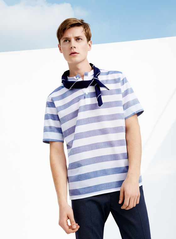 Inditex famous fast fashion Spanish label Zara presents lookbook Man SS 15 the first part is suit and tie, menswear and tailoring suits for social events and office-to-out. Second part is New Navy ready for the weekend outfits and non-formal occasions.
