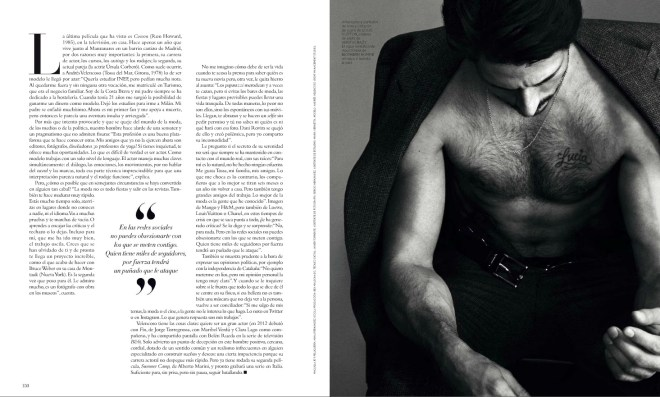 """Spanish top model Andrés Velencoso delights our screens for the new issue of Harper's Bazaar España August 2015 entitled """"Cuerpo Caliente, Mente Fría"""" (Hot Body, Cold Mind) shot by talented Txema Yeste."""