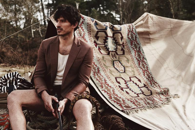 Andrés Velencoso Segura is the new Man of the World for ELLE Man Vietnam July 2015 Photographed by Jumbo Tsui, stylist by Shuo Yuan Hasegawa. Make-up: Yann Boussand Larcher.