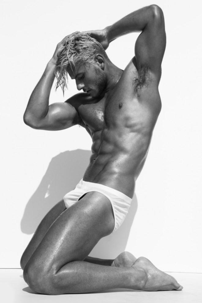 Aussie top model Daniel Garofali explodes in a sensuality shot by Stephen Busken.