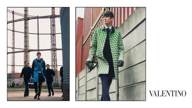 Valentino unveiled its Fall/Winter 2015 campaign, featuring George Barnett, Matthieu Gregoire, Nicolas Ripoll, Serge Rigvava, Tancrede Scalabre and Tommaso de Benedictis shot by David Bailey.