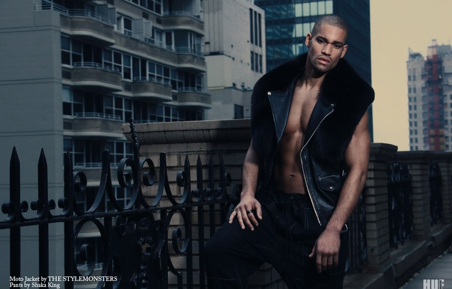 "Photographer Sailey Williams captured male model Deric Mickens at Soul Artist Management for an exclusive editorial entitled ""Way Up"" for HUF Magazine, shot location in the Big Apple. Stylists: Chad Groom and Llewellyn Jenkins for THE STYLEMONSTERS Grooming: Griselle Rosario for Sigma"