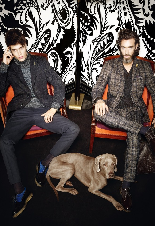 "Etro Uomo Fall/Winter 2015.16 Campaign/Lookbook. The collection was referred to as being ""as rich and curated as a cabinet of curiosities.""  This collection was a strong example of mind over matter in the pursuit of artistic sartorial adornment."