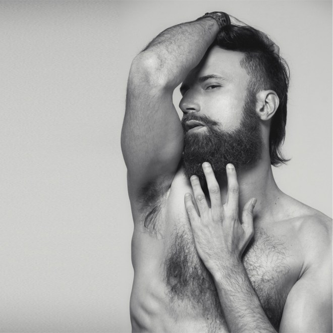 Wolf boy Diego Volpi is a beautiful male model dashing around every where he goes, here's posing by photographer Soraia Correa.