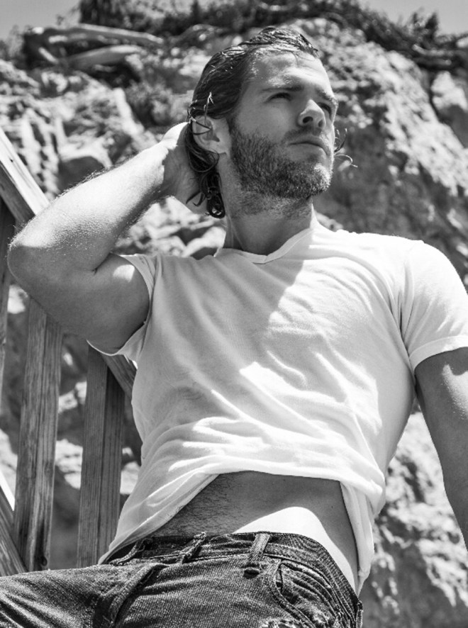 Elite Model Jake Jensen hits the beach for a radiant session by Stéphane Guillon shooting in Malibu when he was visiting from France.  Stylist and Assistant: Benjamin Rancher.