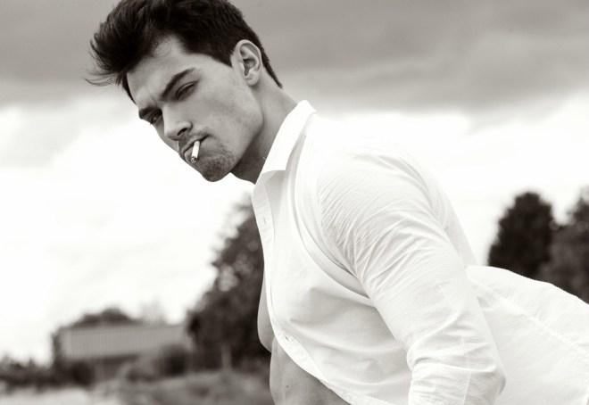 German model Markus Schäfer posing amazing in this new shots by Steffen Möller.
