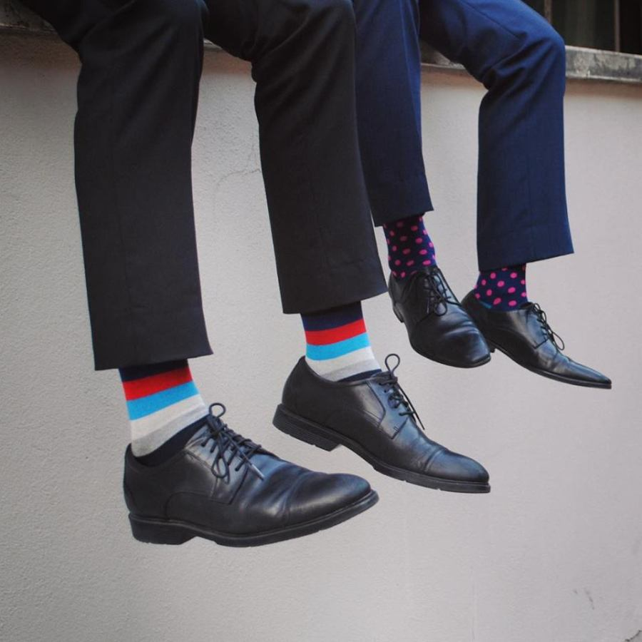 Society Socks is for you to keeps. Ultimate blend of craftsmanship and style. Turn the traditional understanding of socks inside out and create products that show your individuality. Support the notion that socks shouldn't be dull and colorless, but bold and expressive.