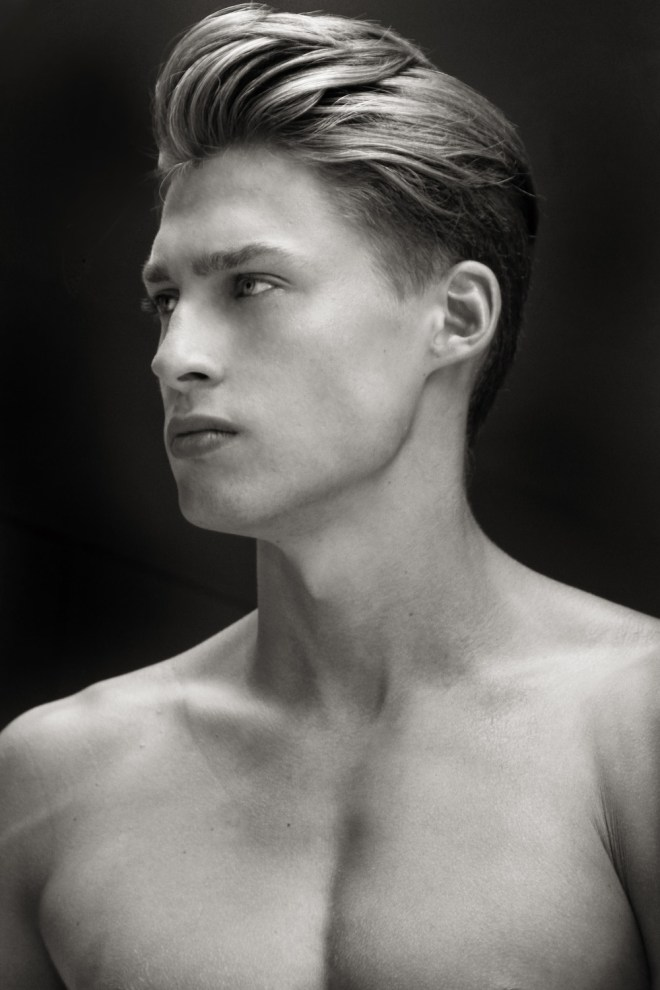 Introducing the handsome male model Ulrik Nielsen by Ray John Pila, snapped in black and white and color set a very updated portrait.