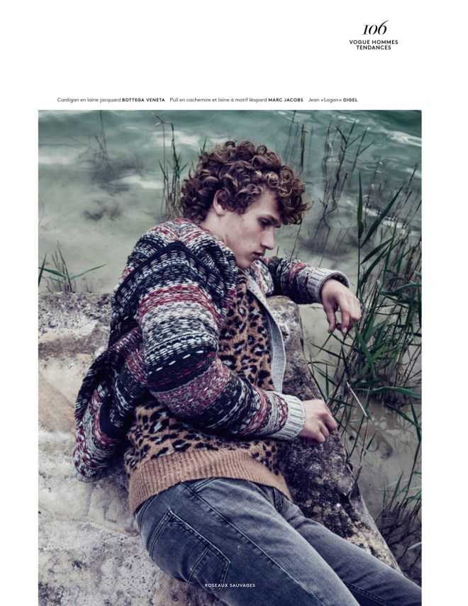 "Stunning photography by Sharif Hamza ""Roseaux Sauvage"" is the new fashion editorial available on Vogue Hommes September 2015. Realization by Darcy Backlar."