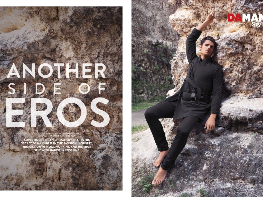 """Bryan Shimansky starring new cover and fashion editorial for Da Man Style 