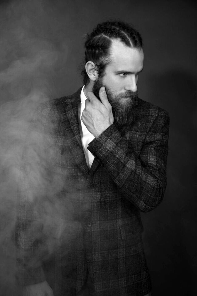 Stylish photography by Malc Stone a London based photographer featuring handsome masculine adonis Grant Molloy, groomed by Michelle Lawrenson.