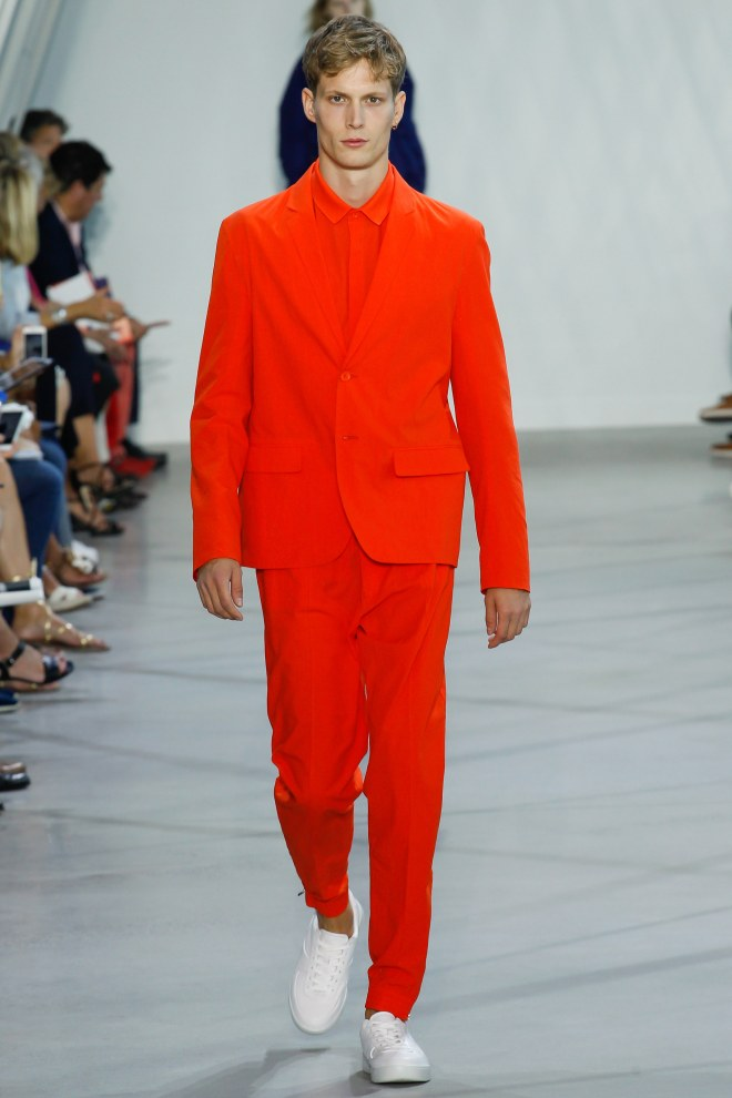 Lacoste in RTW Womens Collection also included mens colorful outfits for this Spring 2016 at New York City.