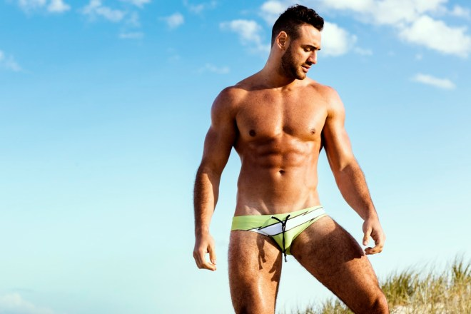 Summer is about to finish, in some places, but there's still rays of sun for most of all, arriving new speedos from Marcuse, the collection 2015 featuring hunk male model Daniel Kairouz posing splendid in the beach sand while shooting by Russell Fleming.