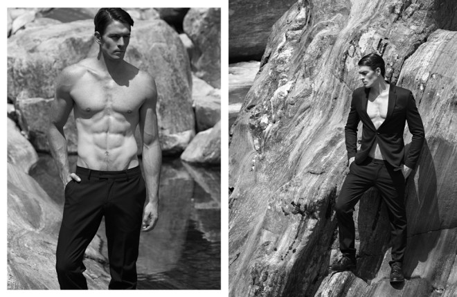 """Black Rocks"" is the new wave of boys captured by talented photographer Alexis Dela Cruz with newcomers Chris @ Beyond Models, Krishna @ Urban Management, Pablo @ Montevideo Models and Roger @ Urban Management. The clothes that were used were Calvin Klein, Armani, Zara and Bench by Michael Cinco."