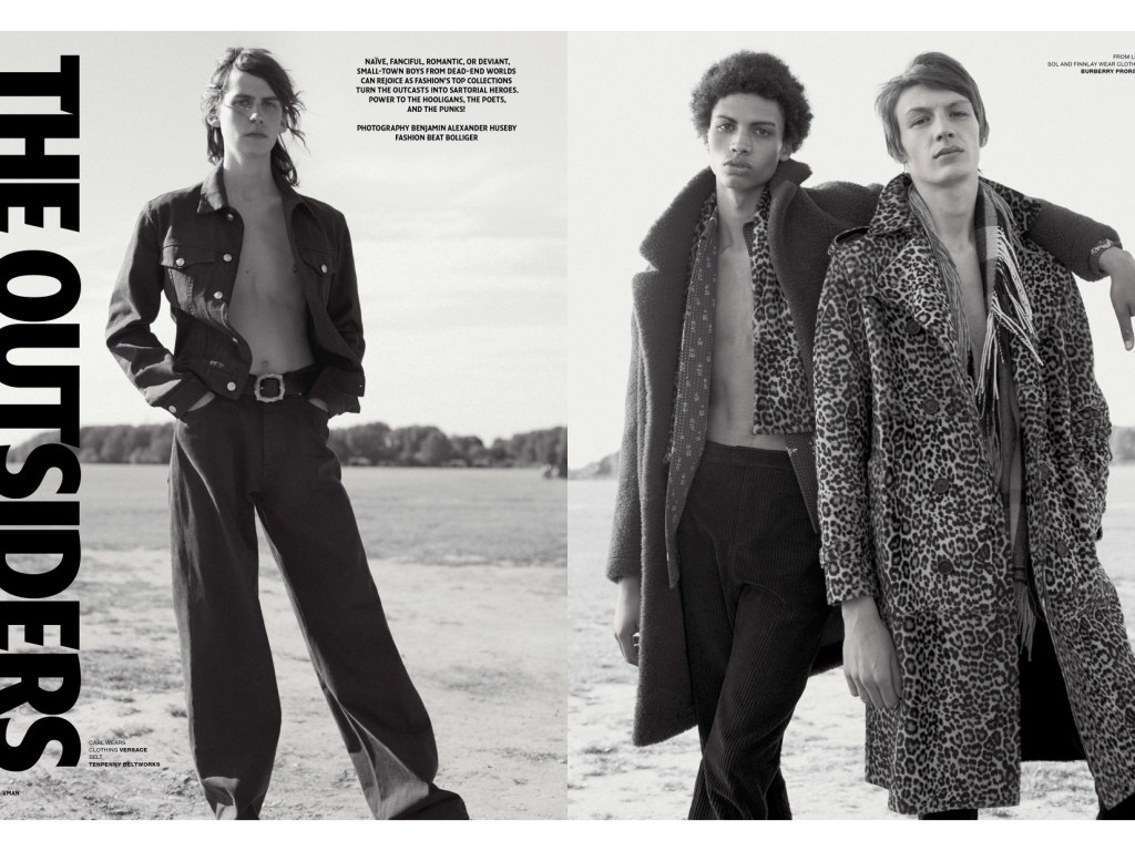 Stunning work by photographer Benjamin Alexander Huseby with stylist Beat Bolliger exposed at VMAN FW 15. Models: Flynn Christie (Bananas Models Paris), Finnlay Davis (Elite London), Carl Helm and Sol Goss (SUPA), Yusuf S (TIAD), Mats van Snippenberg (Next), Max Straitly (D1), Tyrone (Select). Grooming by Matt Mullgall, Production by Sophie Castley (Lock Studios).