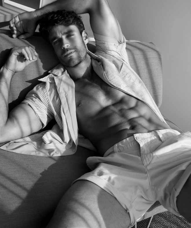 Top Brazilian model, Caio Cesar, sizzles in this showstopping new set by talented photographer Marco Ovando shot on location at a hotel in L.A.