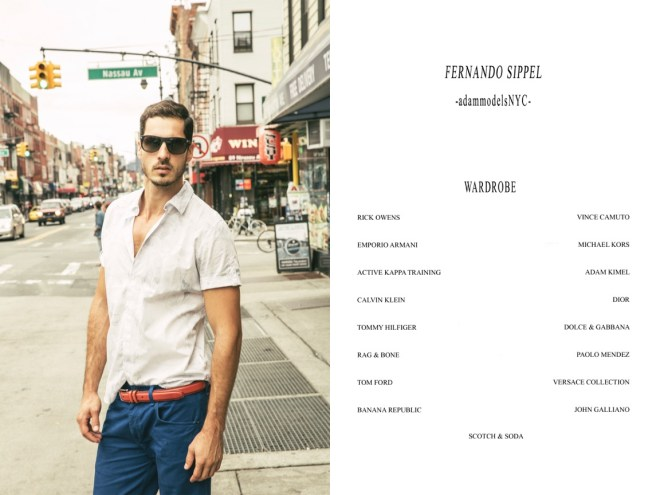 """""""Destination: Brooklyn"""" is the work snapped at Brooklyn by Stefano Raphael featuring male model Fernando Sippel from Adam NY, styled any Inoisell Miranda and grooming by Kate Neumann.This area was very industrial, now its very hip with brand new state of Art. There the people can be casual, exotic, class, urban..."""