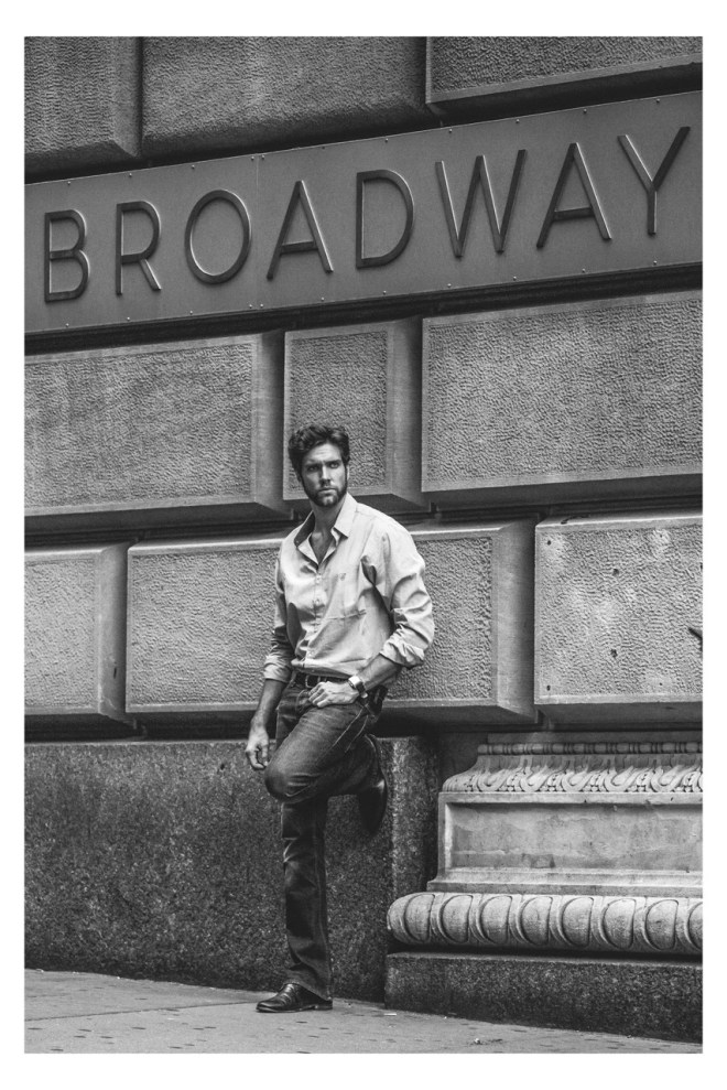 Every single shot of this stunning work by photographer Stefano Raphael, is so good. Two important things, a beautiful male model and actor Rodrigo Medeiros and The Big Apple in the background. Stylist by Day Molina – John Cuevas and grooming by Peter Ken.