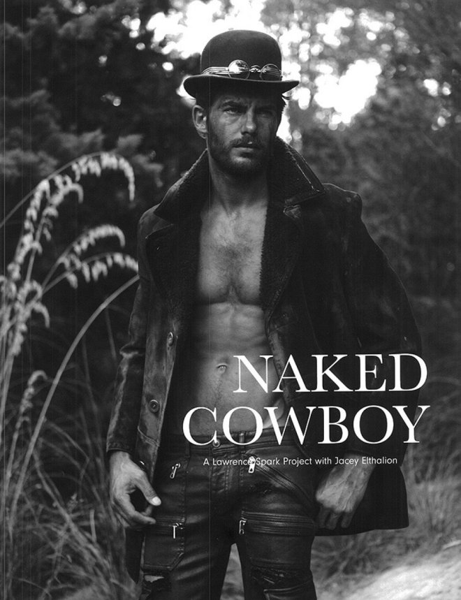 "Seventh Man F/W 2015 presents ""Naked Cowboy"" a work by Photographer Lawrence Sparkes starring Jacey Elthalion and Stylist: Dean Hau."