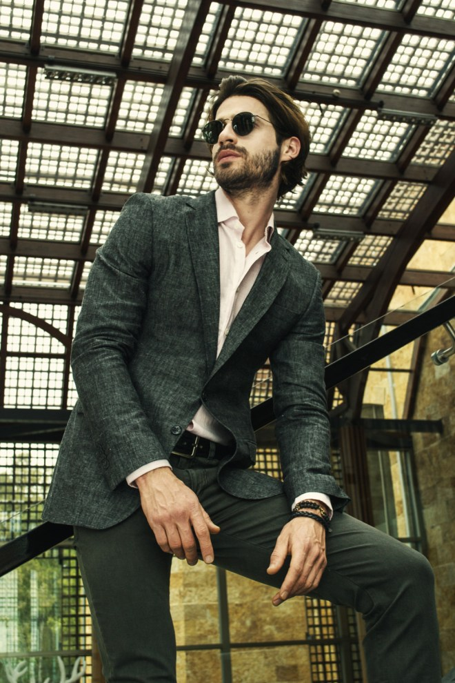 Argentinian menswear LA RESTINGA shows off Men's collection and a luxury men's style at Buenos Aires.