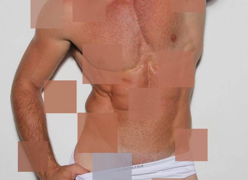 I do not own any image of this, I do not photographed them. But Fashionably Male was the first place to show to the world for the very first time, even first that the own photographer. I just got this squares stock into to my head and choose this sexy hunks to portrayed some squares.