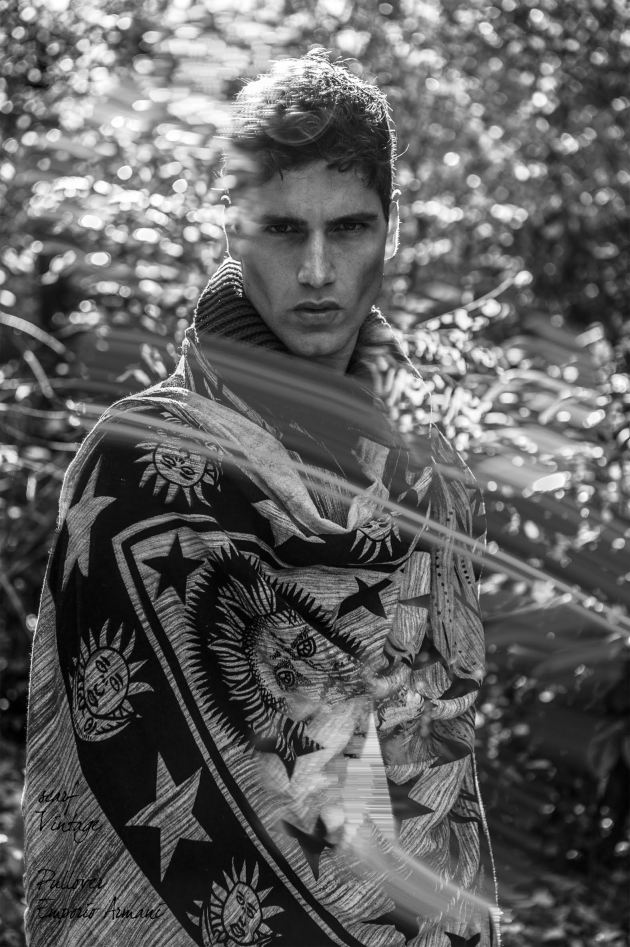 Italian leading Top model Fabio Mancini (D'Men) returns on our pages with a series of stunning new images, shot by a young Italian photographer, named Virginia Di Mauro. Captured in timeless black & white images, Fabio explores the silent woods, wearing a wardrobe where pieces from the likes of Burberry and Emporio Armani are mixed with vintage numbers. Looking handsome as usual, Fabio is captured surrounded by natural lights and shadows, reminding us once again the fact that it's impossible for him to deliver bad pictures.