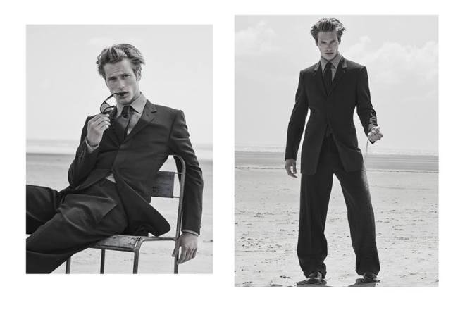 Esquire UK pays #Atribute to four decades of Armani with a special story featuring contemporary and archive #GiorgioArmani looks, photographed by Alan Clarke.
