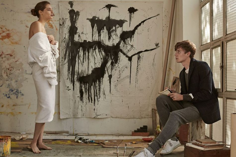Fascinated by the new promotional ads from Mango Man November Lookbook: An art life