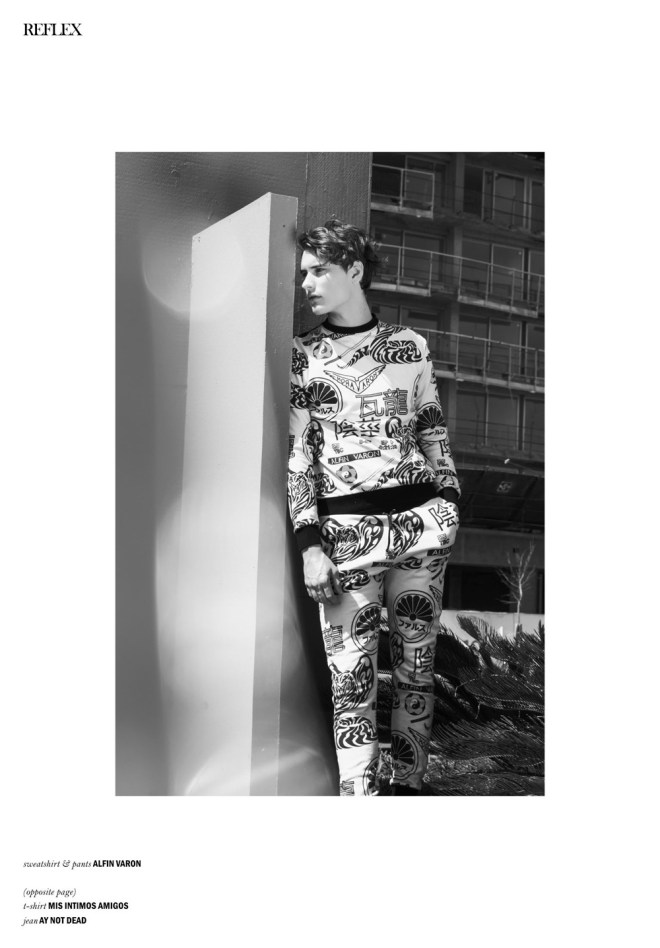 "In the ""Buffalo Issue"" at Reflex Homme Magazine featuring the work of Ari Mendes and model Nicolás Lorenzon from SOFMODELS, entitled ""No Machines, Crystallize (Buffalo Boy)"". Styled by María Teresa Gomez, Make up and hair by Ariel Coronel."