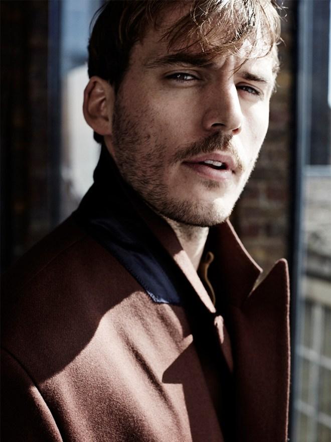 I found this very pleasant, shot by Alex Bramall featuring male model Sam Claflin.