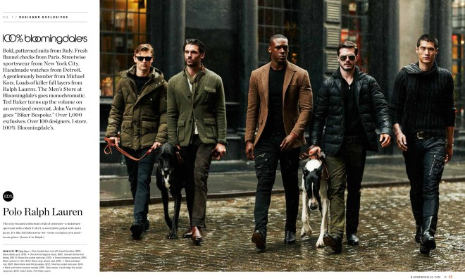 Promotional ad shots 100% Bloomingdale's Menswear Fall 2015 exposing at models.com