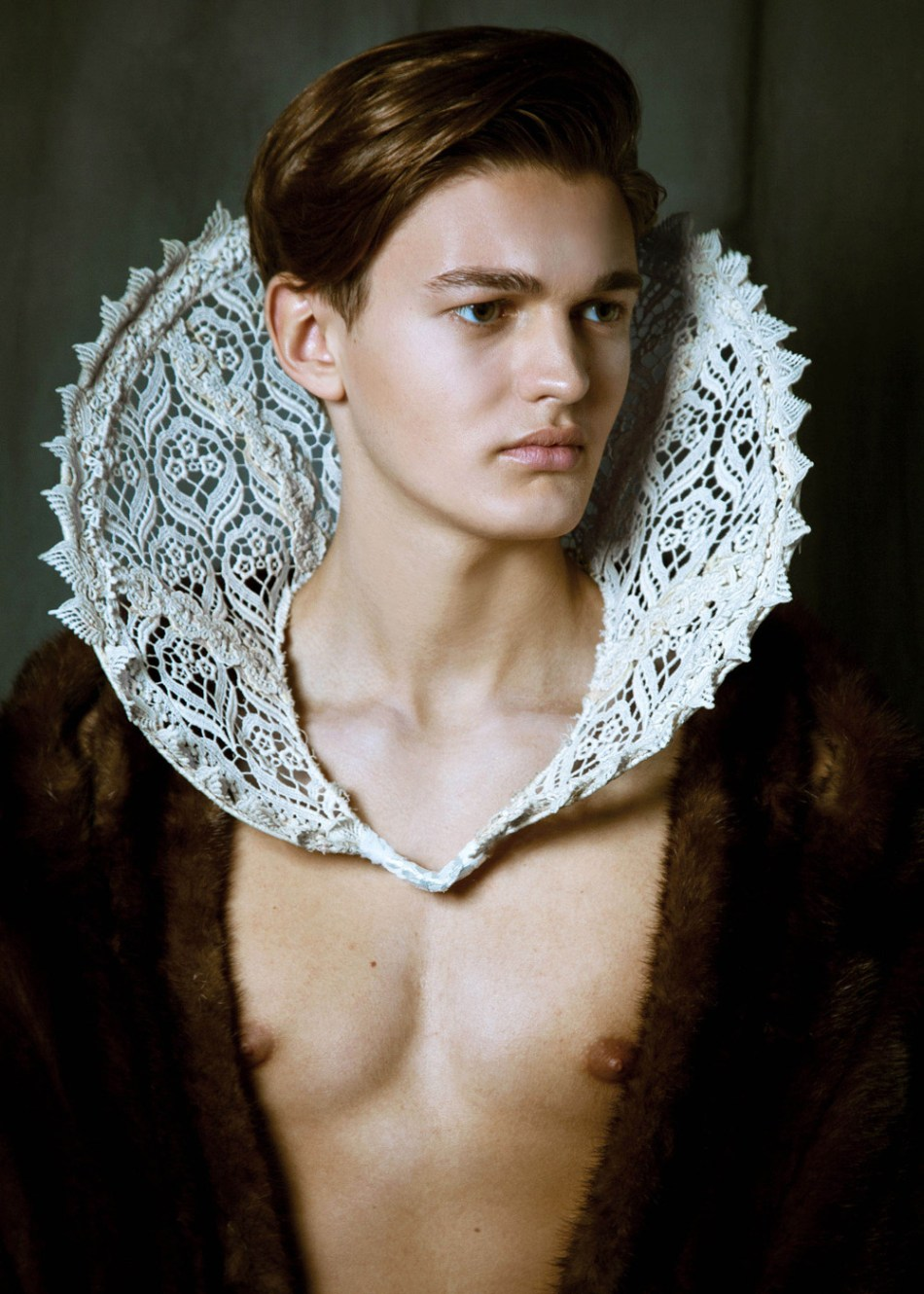 """""""The Cult Of Beauty"""" work by photographer Scallywag Fox featuring male model Gabriel Lindsay at AMCK Models. Stylist by Lidlbillionaire, MUA: Becci Mapes."""