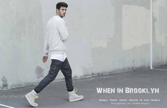 """When in Brooklyn"" a work presented by photographer Alexa Koegel featuring male model Tzahi (Zack) Genish of Yuli Models."
