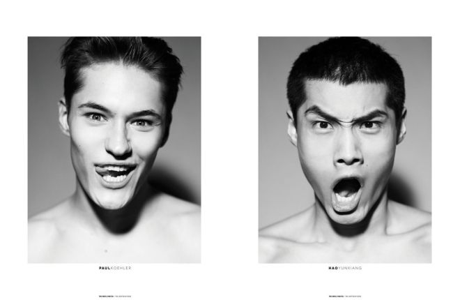 """WHY SO SERIOUS?"" - Some of the Male Models photographed by Dennis Weber during Milan Fashion Week (Fall/Winter [2013]) for The Ones 2 Watch - The Lighten Up Issue."