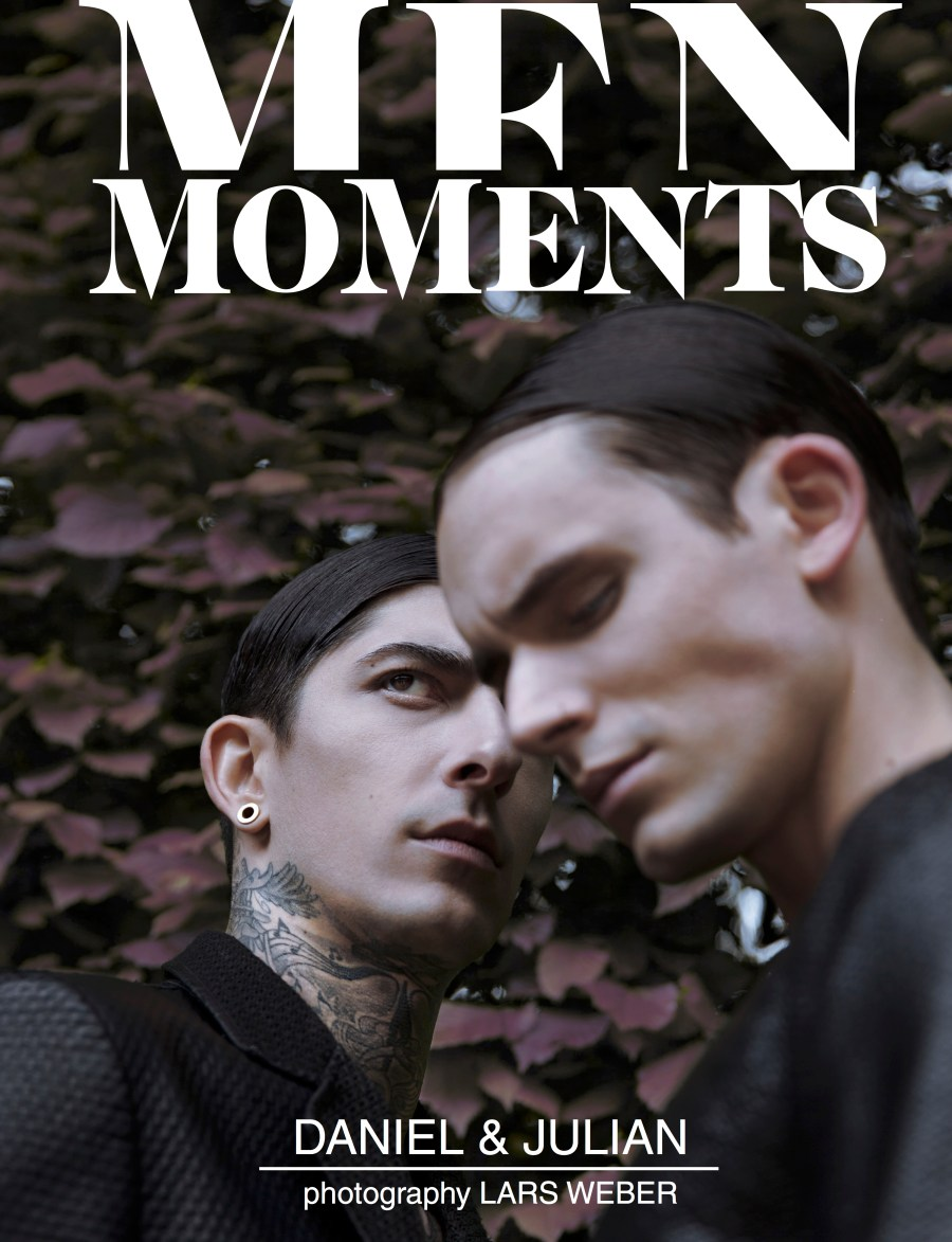 Men Moments Cover and fashion Issue 17 photographed by Lars Weber, styled by Julian Quante and grooming by Patrick Susic models Daniel from MODELWERK and Julian from Kult Models.