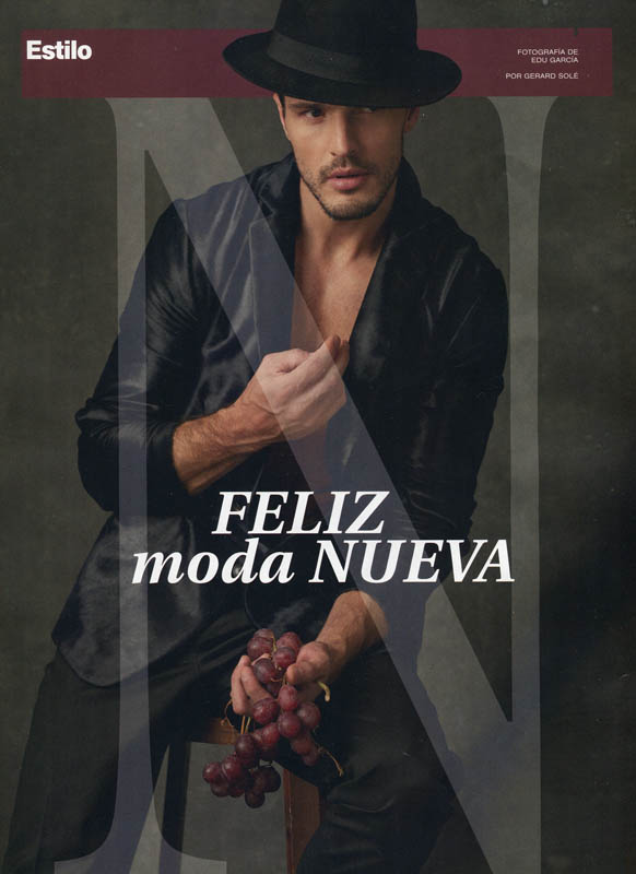 Diego Miguel in the cover story of Men's Health Spain, December 2015. Photos by Edu Garcia.