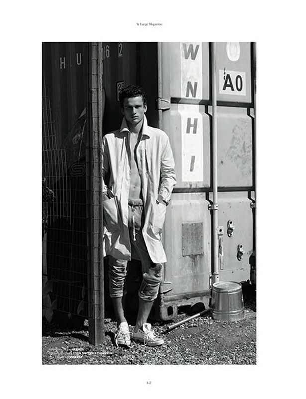 Simon Nessman is the cover star of At Large080