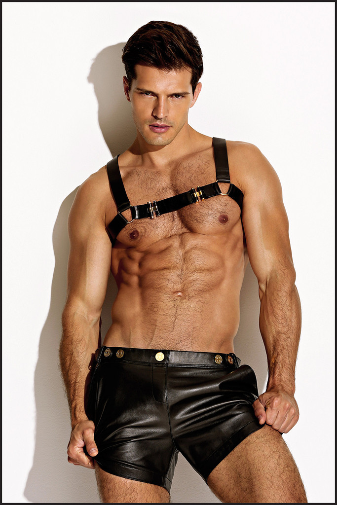 "charliebymzBlack Party Ideas. ""The Charlie Leather Resort Short"" with gold plated hardware. Made from supple, black genuine lamb skin. SHOP The entire #Charliebymz LEATHER COLLECTION at www.charliebymz.com"