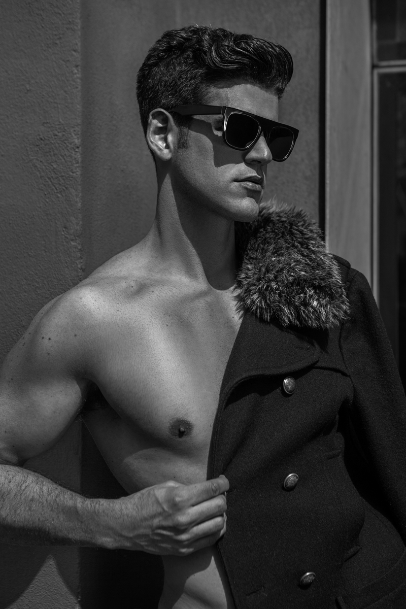 Captured by Photographer Jamie Mann featuring Canadian male model AJ Power, styling by the photographer and grooming by Gurveen Gill.