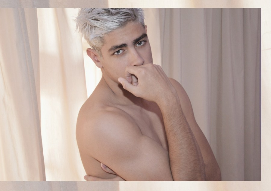 """Boys del Sol"" story captured by Laurent Mac models from +QModa Canarias Antonio and Aridane Da Silva. Beauty shots portrayed at Gran Canaria Island."