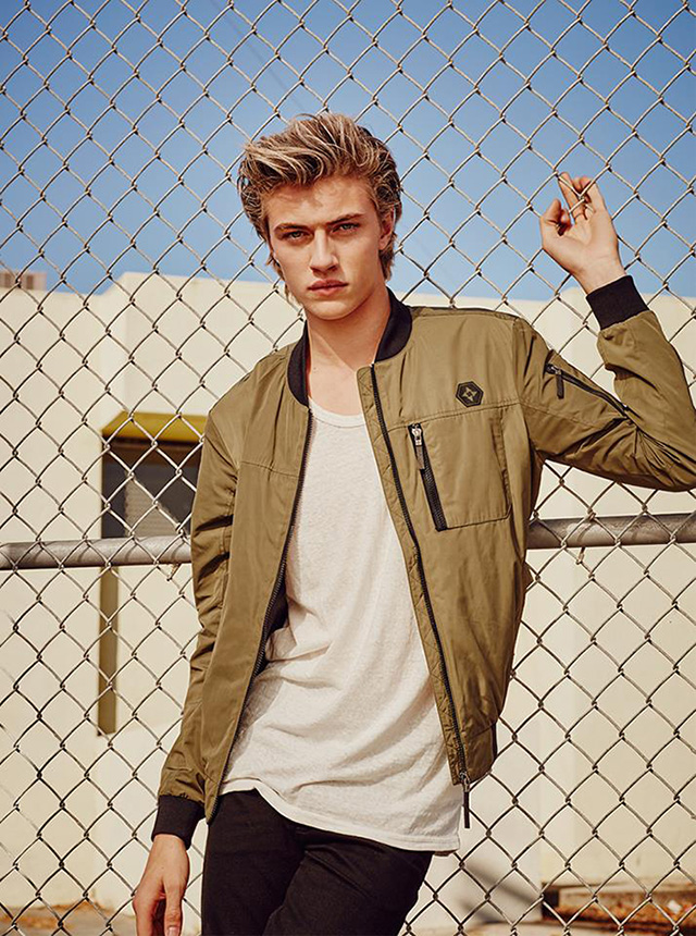 Lucky Blue Smith fronts the Spring/Summer 2016 campaign of Korean brand Isenberg.