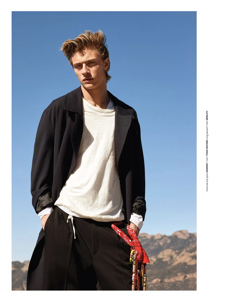 Lucky Blue Smith photographed by Randall Mesdon and styled by Julie Ragolia, for the latest coverstory of At Large magazine.