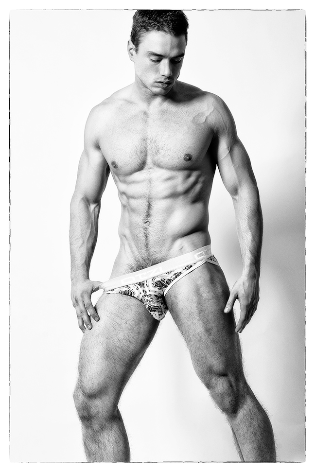 Monday motivation with B&W body shots with stunning male model Marcin Michal by Armando Adajar.