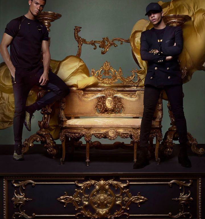 """A GOLDEN TOUCH: NIKELAB x OLIVIER ROUSTEING Fashion and football come together for Olivier Rousteing's new collaboration with Nike Lab. Story shot exclusively for Dazed and Confused Magazine by Nick Knight, styling Robbie Spencer. """"What I love about this collection is that we are integrating the iconic style of football into sport style"""" explains Olivier Rousteing."""